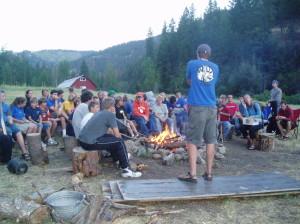 Camp WILD campfire